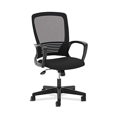basyx byHON® VL525 Mesh High-Back Chair, Fixed Arms, Black