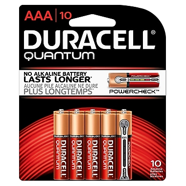 Duracell – Piles alcalines AAA Quantum, paq./10