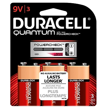 Duracell – Piles Quantum 9V, paq./3