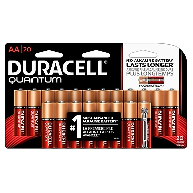Duracell® – Piles alcalines AA Quantum, paq./20