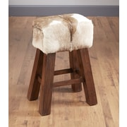 AA Importing 29.5'' Bar Stool; Goat Hide