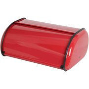 Sweet Home Collection Stainless Steel Breadbox; Red
