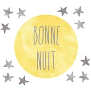 Eco Wall Decals 13 Piece Bonne Nuit Wall Decal Set; Yellow