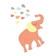 Eco Wall Decals 12 Piece Elephant Wall Decal Set; Peach