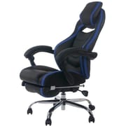 Merax High-Back Executive Chair; Black/Blue