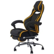 Merax High-Back Executive Chair; Black/Yellow
