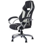Merax High-Back Executive Chair; Black/White