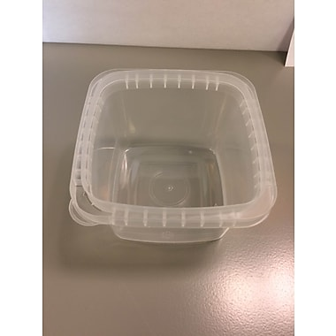 Square Polyprolyene Container, Clear, 16 oz., 700/Case