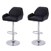 AdecoTrading Adjustable Height Bar Stool w/ Cushion (Set of 2)