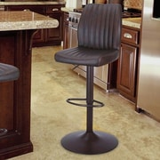 AdecoTrading Adjustable Height Bar Stool with Cushion