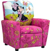 KidzWorld Disney Minnie Mouse Cuddly Cuties Kids Cotton Recliner w/ Cup Holder