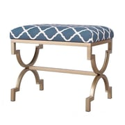 AdecoTrading Modern Style Fabric Bench Ottoman; Green
