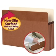"""Smead® Easy Grip® File Pocket, Straight-Cut Tab, 3-1/2"""" Expansion, Legal Size, Redrope, 25/Box (73210)"""