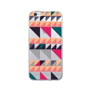 OTM Prints Clear Phone Case, Triangle Quilt Orange - iPhone 6/6S Plus
