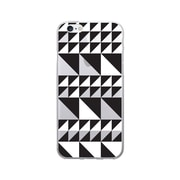 OTM Prints Clear Phone Case, Triangle Quilt Black & White - iPhone 6/6S Plus