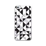 OTM Prints Clear Phone Case, Geo Triangle Black & White - iPhone 6/6S Plus