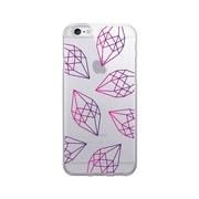 OTM Prints Clear Phone Case, Diamonds Pink & Purple - iPhone 6/6S Plus