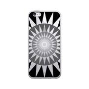 OTM Prints Clear Phone Case, Sun Dial Gray - iPhone 6/6S Plus