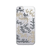 OTM  Prints Clear Phone Case, Holiday Wishes Gold, iPhone 7/7S (OP-IP7V1CG-A-25)