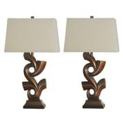 Jenkins Lamp, Inc. Titian Sculpted 32'' Table Lamps (Set of 2)