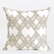 G Home Collection Handmade Textured Beaded Throw Pillow; Gold