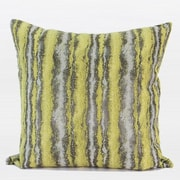 Gentille Home Collection Stripe Pattern Metallic Chenille Throw Pillow