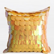 G Home Collection Textured Handmade Sequins Throw Pillow