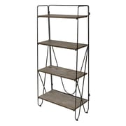 Kate and Laurel Thornberry Wood/Metal 48'' Bookcase; Black
