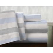 Pointehaven Savannah 100pct Cotton Flannel Sheet Set; Queen