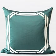 Gentille Home Collection Embroidered Modern Frame Textured Throw Pillow