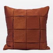 G Home Collection Metallic Throw Pillow; Dark Orange