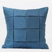 G Home Collection Metallic Throw Pillow; Blue