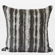 G Home Collection Luxury Stripe Metallic Chenille Throw Pillow