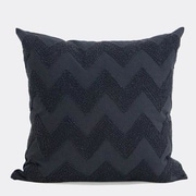 G Home Collection Luxury Chevron Embroidered w/ Bead Throw Pillow
