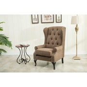 Best Quality Furniture Wingback Chair; Chocolate
