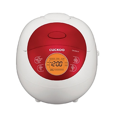 Cuckoo Electronics 3 Cup Electric Warmer Rice Cooker; Red WYF078279435078