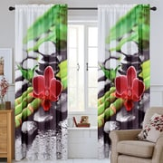 Urbanest Serenity Curtain Panel (Set of 2); Red