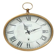 Stratton Home Decor Stratton Home D cor Gold Oval Wall Clock