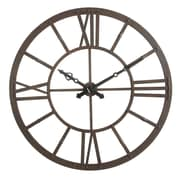 Creative Co-Op Collected Notions 47.63'' Metal Wall Clock