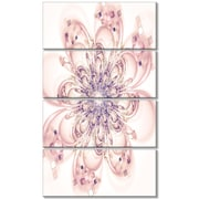 DesignArt 'Full Bloom Fractal Flower in Pink' 4 Piece Graphic Art on Wrapped Canvas Set