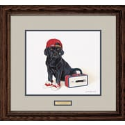 WildWings 1st Day of School - Lab Puppy by Brett Longley Framed Graphic Art
