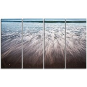DesignArt 'Ocean Beach Water Motion' 4 Piece Wall Art on Wrapped Canvas Set