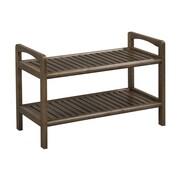 New Ridge Home Goods Abingdon Solid Wood Storage Entryway Bench; Antique Chestnut