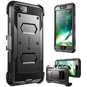 i-Blason Apple iPhone 7 Plus Armorbox Series Fullbody Protection Case with Screen and Holster - Black (752454313051)