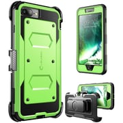 i-Blason Apple iPhone 7 Plus Armorbox Series Fullbody Protection Case with Screen and Holster - Green (752454313075)