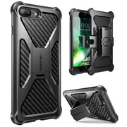 i-Blason Apple iPhone 7 Plus Transformer Series Kickstand Case with Holster - Black (752454313112)