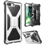 i-Blason Apple iPhone 7 Plus Transformer Series Kickstand Case with Holster - White (752454313136)
