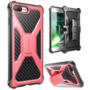 i-Blason Apple iPhone 7 Plus Transformer Series Kickstand Case with Holster - Pink (752454313143)