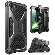 i-Blason Apple iPhone 7 Transformer Series Kickstand Case with Holster - Black (752454312634)