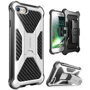i-Blason Apple iPhone 7 Transformer Series Kickstand Case with Holster - White (752454312658)
